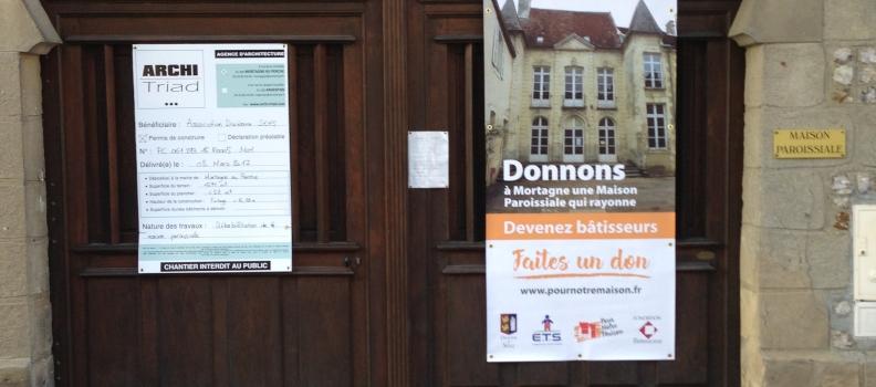 Participation à la réhabilitation de la Maison Paroissiale de Mortagne-au-Perche